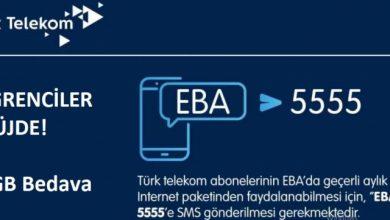 EBA 8 GB internet kampanyası