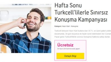 Hafta Sonu Turkcelllilerle Sınırsız Konuşma Kampanyası